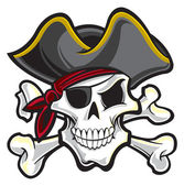 Pirate skull — Stock Vector
