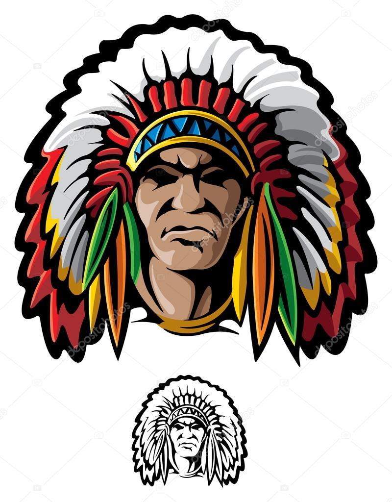 indian chief head vector iscblog