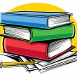 Vector de stock : School books