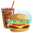 Cheeseburger and cola — Stock Vector #21519035