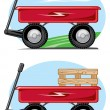 Stock Vector: Toy wagon