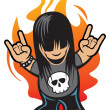 Rock and roll — Stock Vector #21519423