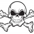 Skull and crossbones — Stockvector