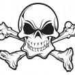Skull and crossbones — Stockvectorbeeld