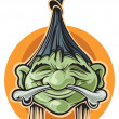 Shrunken head — Stock Vector