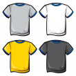 T-shirt icons - Stock Vector