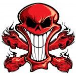 Skull and crossbones — Stock Vector #21543809