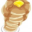 Stock Vector: Pancakes