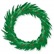 Christmas wreath — Vecteur