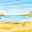 Stock Vector: Beach landscape