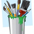 Vector de stock : Art supplies