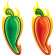 Hot pepper — Stock Vector