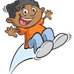 Jungen springen — Stockvektor