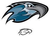 Hawk mascot — Stock Vector