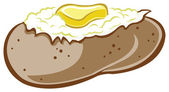 Baked potato — Stock Vector