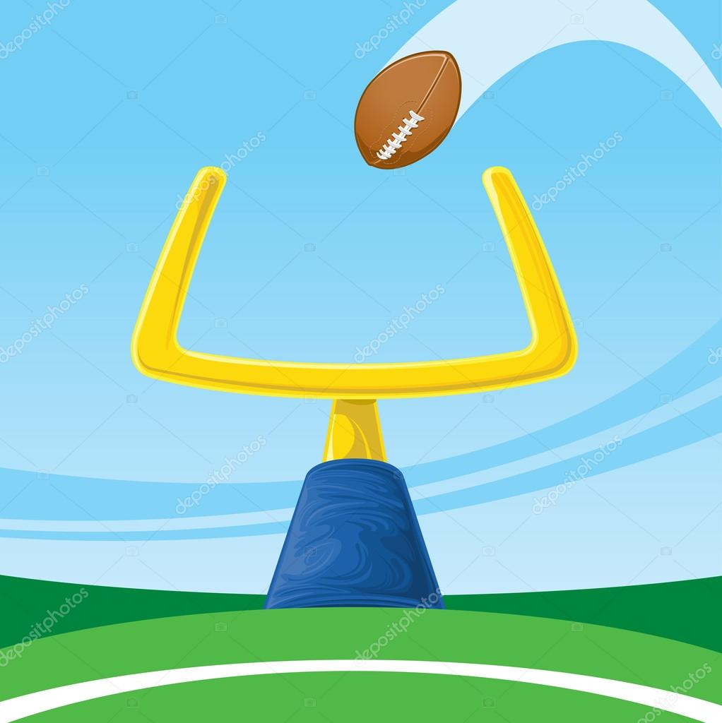 Football Field Goal Post Clipart Field goal - stock