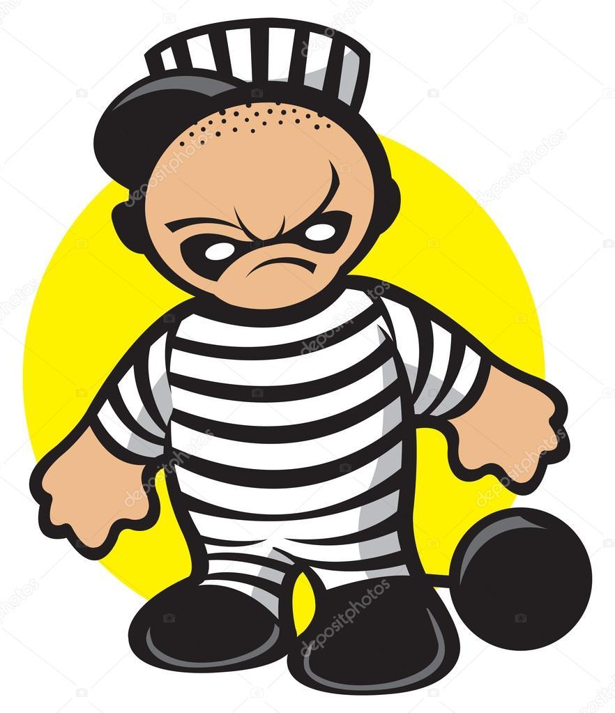 囚犯— 矢量图片作者 slipfloat