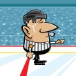 Stock Vector: Hockey referee