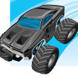 Off road vehicle — Image vectorielle