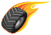 Off road tire — Stock Vector