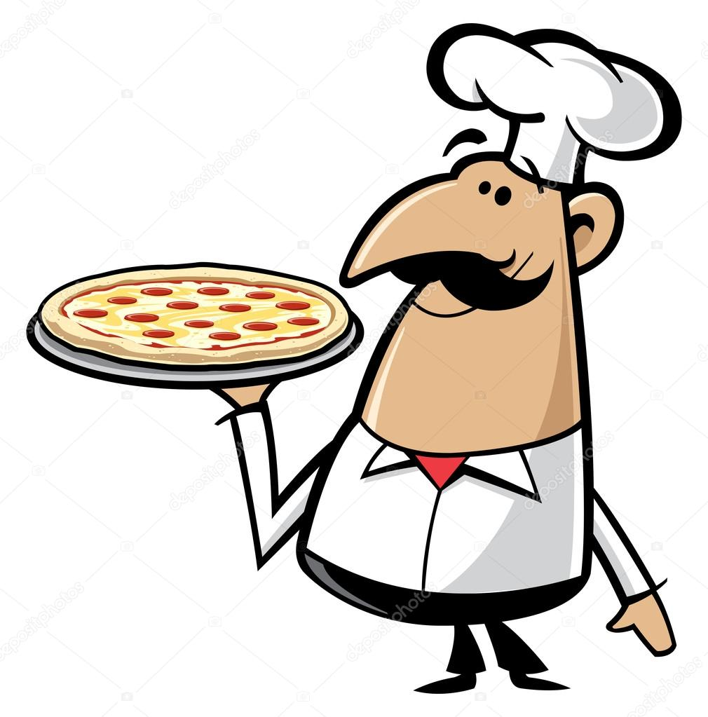 Pizza Chef Vector Pizza Chef — Vector by