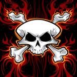 Skull cartoon — Stock Vector #21667615