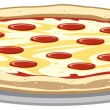 Stock Vector: Pizza
