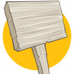 Blank board — Stock Vector