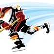 Stock Vector: Hockey player
