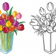 Royalty-Free Stock Vector Image: Flower arrangement