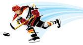 Hockey player — Stock Vector