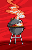 Barbecue Grill — Vector de stock