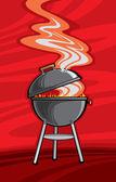 Griglia barbecue — Vettoriale Stock