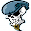 Skull head — Stock Vector