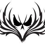 Skull emblem — Stock Vector
