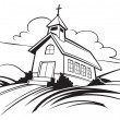 Church — Vector de stock