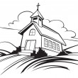 Stock Vector: Church