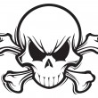 Skull and Crossbones — Vettoriale Stock #22108061