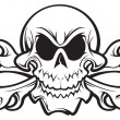 Vector de stock : Skull and crossbones