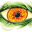 Stock Vector: Scary eye