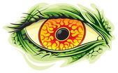Scary eye — Stock Vector