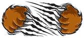 Garra de oso — Vector de stock