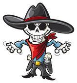 Skeleton cowboy — Stock Vector