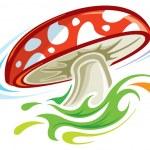 Mushroom — Stock Vector