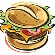 Hamburger — Stock Vector #36512915
