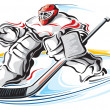Stock Vector: Hockey goalie