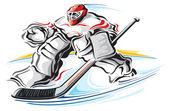 Hockey goalie — Stock Vector