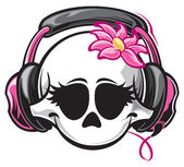Girl skull — Stock Vector