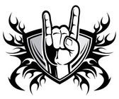 Rock and roll hand sign — Stock Vector