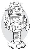 Robot — Stockvektor